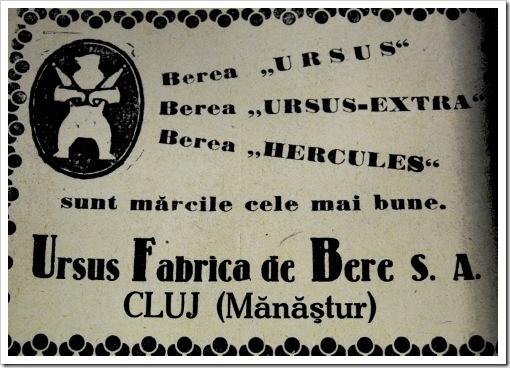 prima reclama fabrica de bere ursus