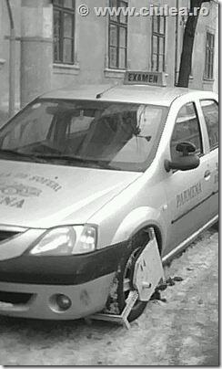 masina de scoala soferi blocata