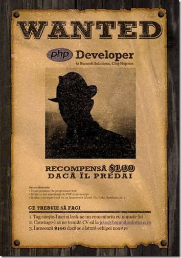 WANTED: PHP developer ... ALIVE!