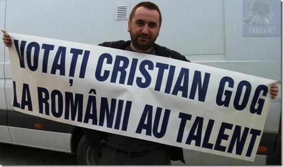 Ciulea - votati Cristian Gog la Romanii au Talent